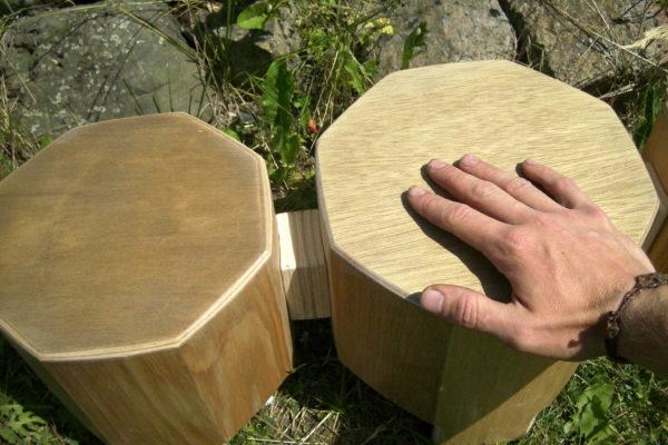 Woodi-Drum 2er, Holztrommel für Kinder