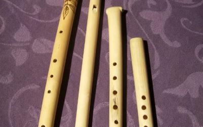 Flöten aus Holunder-Holz
