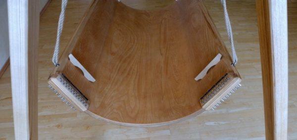 Klang-Schaukel 4 Spielflächen Saitenwirbel, jede Spielfläche, 95cm breit, Liegefläche ca. 60cm breit