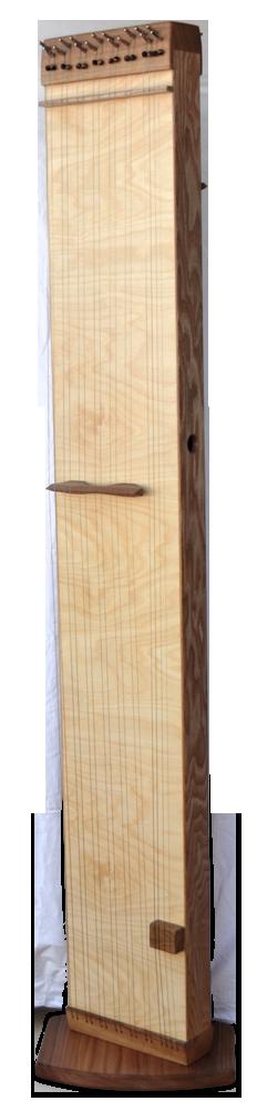 Multichord Elin 160 Seitenansicht, aufrecht mit Ständer Bodenplatte