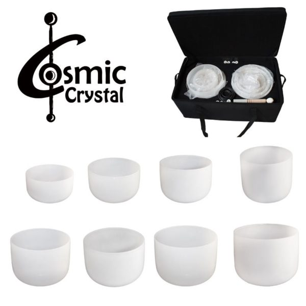 Kristall Klangschalen - Crystalbowl Set