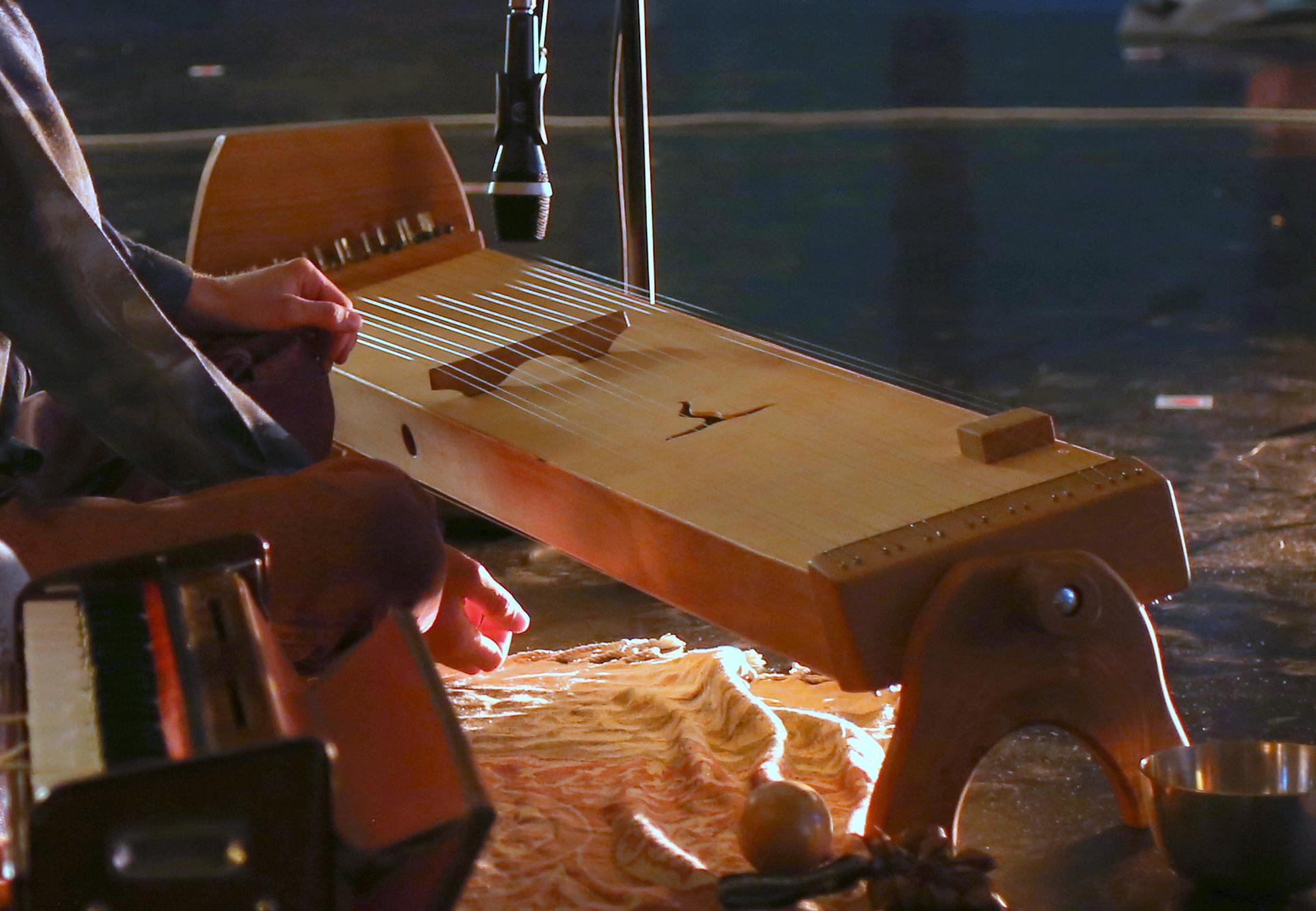 Monochord Multichord Bühne Musiker