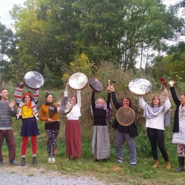 trommelbau workshop mit den frauen